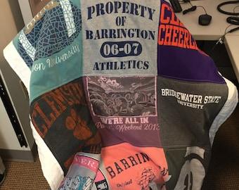 12 T-Shirt Memory Quilts (12 Shirts, 3x4)