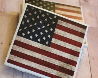 American Flag Coasters, July 4th, United States, Coaster, Coasters, 4th of July, Drink Coasters, 4th of July Decor, USA Coasters, July 4th