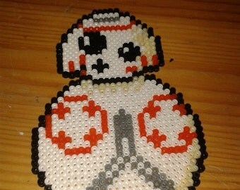 BB-8 StarWars Hama Beads Pixel mini Art