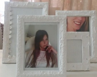 Picture frames, photo frames, shabby, gifts, weddings, christenings, home décor