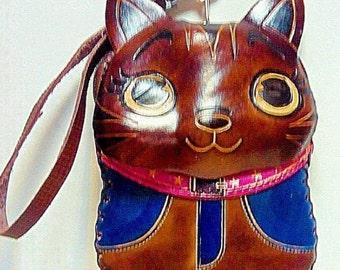 BROWN CAT geniune leather wallet / purse / case