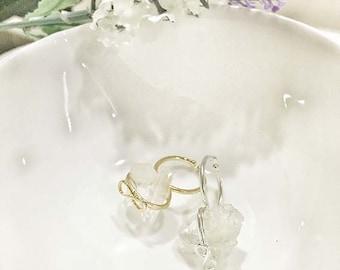 Infinity Double quartz ring