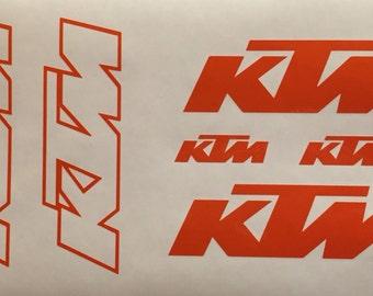 6 KTM Decal Decals Sticker Stickers Graphics sx sxf xc exc mxc mx Moto Motocross