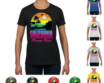 California Paradise Found Women's Fashion T-shirt