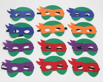 Party pack of 30 Ninja Turtle masks,Kids Party Favors, Personalized kid mask, Kid party favor, Party Favors, kids birthday party