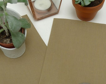 Napkins uni khaki cotton, set of 2 pieces