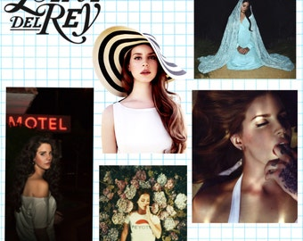 Lana Del Rey inspired stickers