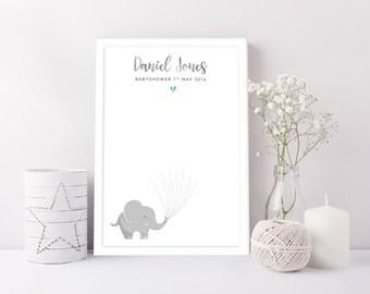 Baby Shower Fingerprint - Handmade Print