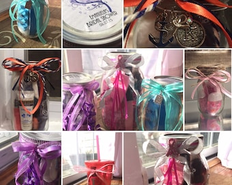 Treat Yourself-Spa in a jar-Perfect Party Gift or Prize-Mason Jar Gift Ideas