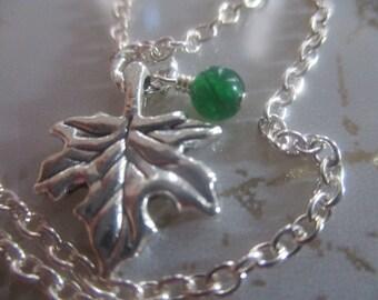 Autumn Leaf Necklace Simple Silver Leaf Necklace Autumn Jewelry Silver Jewelry Harvest Necklace