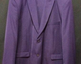 Vintage Falcone Men's Purple 2 Piece Suit Size 45