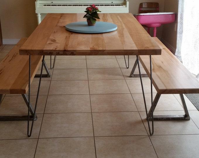 Classic Hairpin Legs, Metal Table legs Handmade