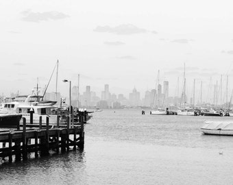Melbourne skyline from Williamstown.
