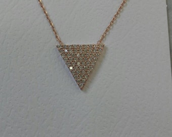 Shining Pyramid Silver Necklace