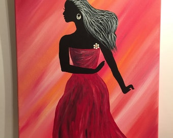 Dancing Girl (Red)