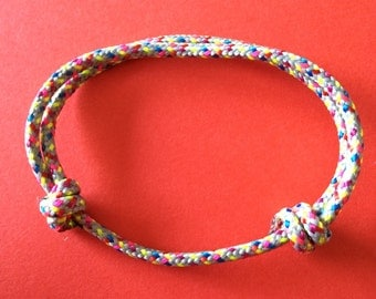 Multicolor rope (rope) bracelet