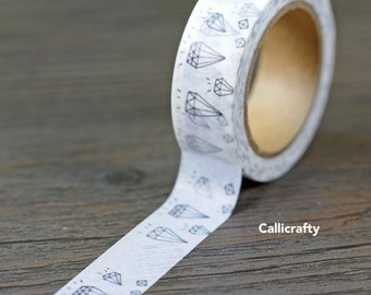 White Diamond Japanese Washi Tape Masking Tape Adhesive