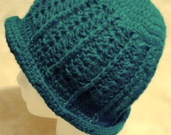Women's Wool Cloche Hat Handmade Crochet