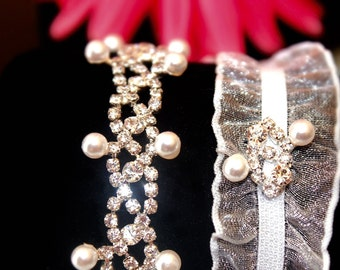 Bridal Garter, Wedding Garter, Crystal Garter, Rhinestone Garter