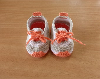 Newborn Crochet Baby Trainers Sneakers Booties Shoes Slippers Socks  (Пинетки-кроссовки для малыша)