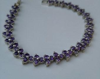 Purple Zircon Bracelet