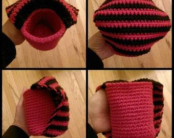 Crochet Beer Koozy with Hand Warmer