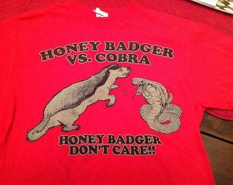 Honey badger shirt -XL and MD