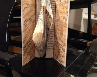"""Folded Book - """"Musical Note"""""""