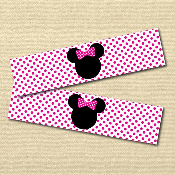 Minnie Mouse Printables, Minnie Water bottle Labels ...