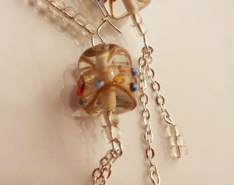 How Murano glass bead earrings