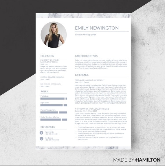 How To Make A Word Doc A Pdf >> Resume Template 2 page CV Template with Cover Letter