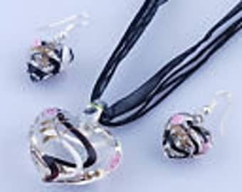 Heart Lampwork set