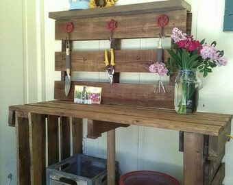 Hand crafted potting table