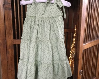 Sage green ruffle sundress