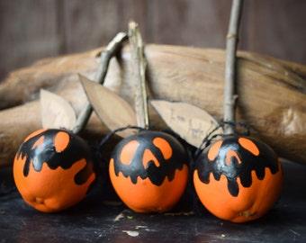Poison Apples (Set of 3) - Halloween Decor - Faux Treats Halloween Decoration