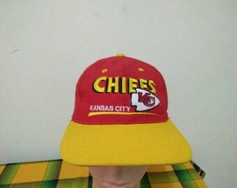 Rare Vintage KANSAS CITY CHIEFS Cap Hat Free size fit all
