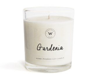 "Medium ""Gardenia"" Scented Soy Wax Candle"