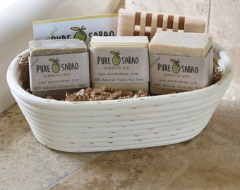 Natural Soap Basket in a Proofing Bowl
