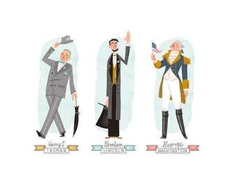 Standing Presidential Prints - 3 Pack