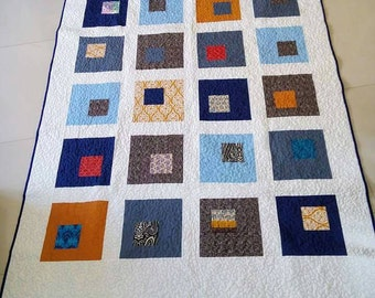 Modern quilt. Homemade quilt. Patchwork Quilt Twin Quilt. Quilt for him. Queen size quilt. Quilt sale. Wedding gift. Customized gift.