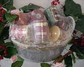 Votive Candle Gift Basket-Holiday