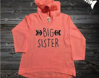 Big Sister Shirt Sibling Big SIster Hoodie Little Sister Shirts Big Sister Announcement Shirt Pregnancy Baby Announcement