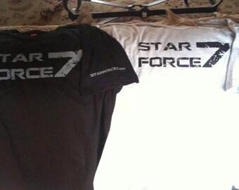 SF7 Grunge Logo Tee, Black