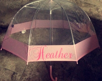 Dome Umbrella with full name