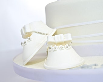 Baby Shoes Fondant Cake Topper