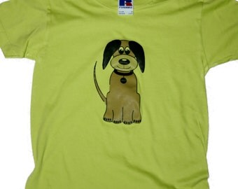 Cute dog girls/boys  t-shirt FREE SHIPPING within UK