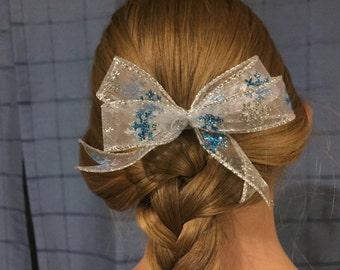 Sparkling Snowflake Bow