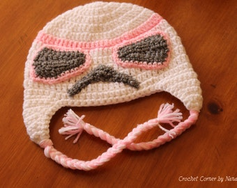 Star Wars Pink Stormtrooper Crochet Hat