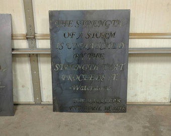 Metal Sign with quote of choice!