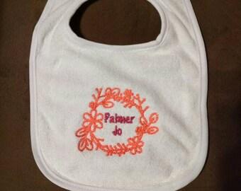 Customized Embroidered Bib